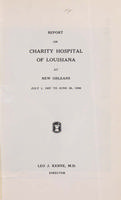 Charity Hospital Report 1957-1958