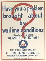 Have You a Problem Brought on by Wartime Conditions?