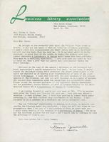 Letter from Florence M. Jumonville to Thelma Toole