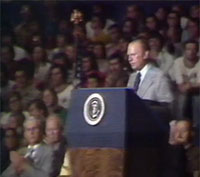 1975-President Ford announces the end of U.S. involvement in Vietnam