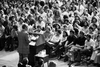 Gerald Ford addressing students, April 1975