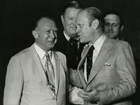President Gerald Ford and Herbert E. Longenecker, 1975