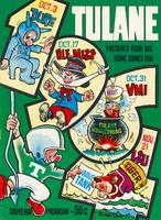 Tulane University Football Souvenir Program-Tulane presents Four Big Home Games For Duke Oct. 3, Ole Miss Oct. 17, VMI Oct. 31 and LSU Nov. 21.