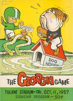 Tulane University Official Souvenir Football Program-The Greenie; The Georgia Game