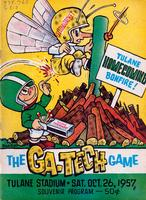 Tulane University Official Souvenir Football Program-The Greenie; The Ga-Tech Game