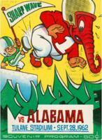 Tulane University Football Souvenir Program-Tulane vs. Alabama