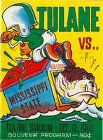 Tulane University Football Souvenir Program-Tulane vs. Mississippi State