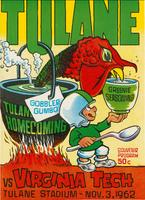 Tulane University Football Souvenir Program-Tulane vs. Virginia Tech