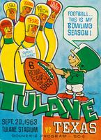 Tulane University Football Souvenir Program-Tulane vs. Texas