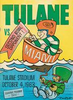 Tulane University Football Souvenir Program-Tulane vs. Miami