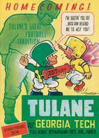 Tulane University Football Souvenir Program-Tulane vs. Georgia Tech