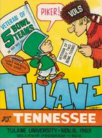 Tulane University Football Souvenir Program-Tulane vs. Tennessee
