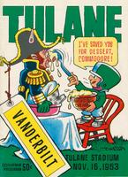 Tulane University Football Souvenir Program-Tulane vs. Vanderbilt