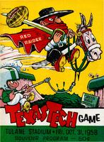 Tulane University Official Souvenir Football Program-The Greenie; The Texas Tech Game