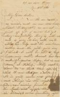 Letter from Lucy Bartlett to