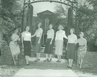 Newcomb College, Beauty Court, Broadway Campus, 1954