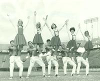 Newcomb College Cheerleaders, 1968