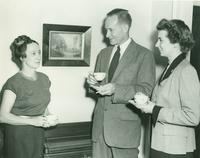 Mrs. Douglas Freret, John Canaday, and Mrs. James P. Erwin Jr., 1951