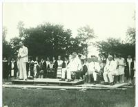 Newcomb College, Dixon Hall Pile Driving Ceremony, 1928