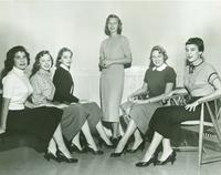 Newcomb College Homecoming Court, 1954