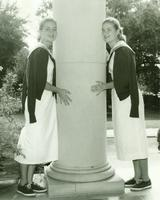 Newcomb College students, Patricia  Patterson and Elizabeth Patterson, 1957