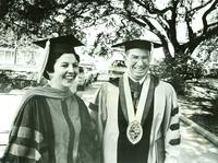 Newcomb College, Dean Sara Chapman and Tulane President Eaman M. Kelly