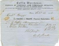 Coffin Warehouse receipt, 1856 September 15
