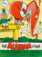 Tulane University Official Souvenir Football Program-The Greenie; The Alabama Game