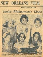 1951-06-14 Junior Philharmonic Elects