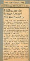 1951-02-14 Philharmonic Junior Recital Set Wednesday