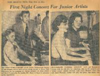 1951-02-14 First Night Concert for Junior Artists