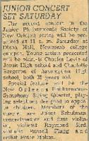 1956 Junior Concert Set Saturday