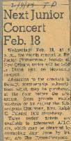 1959-02-08 Next Junior Concert February 18