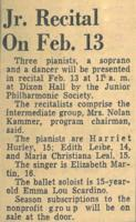 1954-02-13 Jr. Recital on Feb. 13