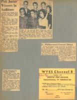 1956 Pick Junior Winners in Auditions;Jr. Philharmonic Concert Slates;Juniior Philharmonic Concert Saturday