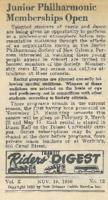 1956 Junior Philharmonic Memberships Open