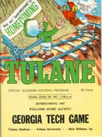 Tulane University Official Souvenir Football Program-The Greenie; Georgia Tech vs. Tulane
