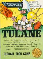 Touchdown! - The Tulane Football Magazine and Official Game Program; Georgia Tech Game