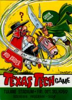 Tulane University Official Souvenir Football Program-The Greenie; Texas Tech Game