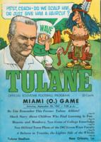 Tulane University Official Souvenir Football Program-The Greenie; Miami vs. Tulane