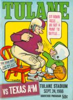 Tulane University Official Souvenir Football Program-The Greenie; Tulane vs. Texas A&M