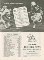 Tulane University Official Souvenir Football Program-The Greenie; Tulane vs. Cincinnati