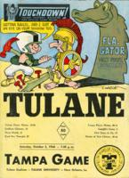 Touchdown! - The Tulane Football Magazine and Official Game Program; Tampa Game