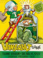 Tulane University Official Souvenir Football Program-The Greenie; The Vanderbilt Game
