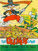 Tulane University Official Souvenir Football Program-The Greenie; The Ole Miss Game