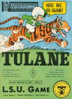 Touchdown! - The Tulane Football Magazine and Official Game Program; L.S.U. Game