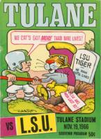Tulane University Official Souvenir Football Program- The Greenie; Tulane vs. LSU