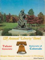 12th Annual Liberty Bowl Program; Tulane University vs. University of Colorado