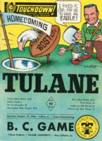 Touchdown! - The Tulane Football Magazine and Official Game Program; B.C. Game