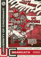 University of Cincinnati Official Football Program; Tulane vs. Cincinnati